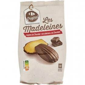 Magdalenas recubiertas de chocolate Carrefour 250 g.