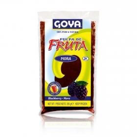 Pulpa de fruta sabor a mora Goya 250 g.
