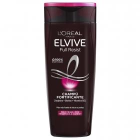 Champú Arginina Resist X3 para cabello frágil con tendencia a caerse L'Oréal-Elvive 370 ml.