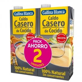 Caldo casero de cocido Gallina Blanca pack de 2 briks de 1 l.
