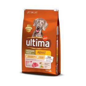Pienso de buey para perro adulto Medium Maxi Ultima Nature 7,5 Kg.