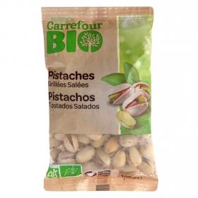 Pistachos tostados y salados ecológicos Carrefour Bio 125 g.
