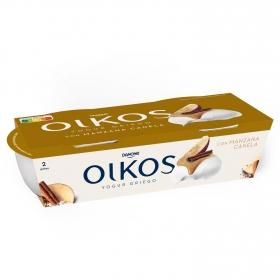 Yogur griego con manzana y canela Danone Oikos Tentaciones pack de 2 unidades de 110 g.