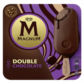 Bombón helado Double Chocolate Magnum 3 ud.