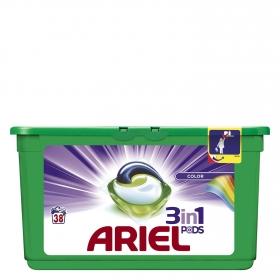 Detergente en cápsulas 3 en 1 Colour y Style Ariel 38 ud.