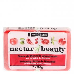 Jabón de manos en pastilla Granada Les Cosmétiques Néctar of Beauty pack de 2 unidades de 100 g.