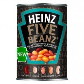 Alubias en salsa de tomate Heinz Five Beanz 415 g.