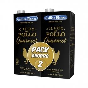Caldo de pollo Gallina Blanca pack de 2 briks de 1 l.