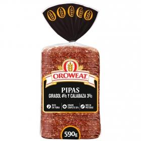 Pan de molde con pipas de girasol y calabaza Bimbo Oreweat 680 g.