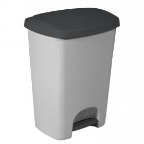 Cubo  de basura de Plástico Curver Essentials 2x20 Litros - Gris