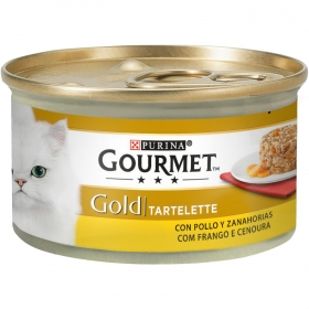 Purina Gourmet Gold Comida Húmeda para Gato Tartalette Pollo y Zanahoria 85g