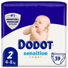 Pañales Dodot Sensitive recién nacido T2 (4kg-8kg.) 34 ud.