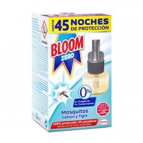 Recambio insecticida eléctrico para mósquitos común y tigre Bloom Zero 1 recambio.