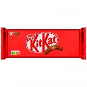 Barrita de galleta crujiente cubierta de chocolate Nestlé Kit Kat 10 unidades de 41,5 g.