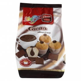 Magdalenas Muffins rellenas de cacao Heras 280 g.