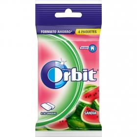 Chicles sabor sandía Orbit  4 paquetes de 10 ud.