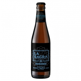 Cerveza artesana La Sagra Suxinsu Triple Rubia Ale botella  33 cl.