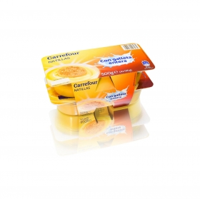 Natillas con galleta entera Carrefour pack de 4 unidades de 125 g.