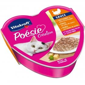 Latita Vitakraft Poésie con Pavo en Salsa de Queso 85 gr