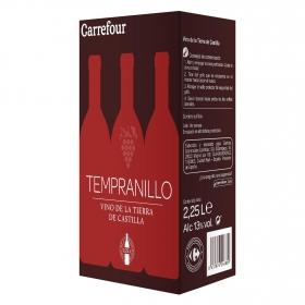 Vino de la Tierra de Castilla tinto tempranillo Carrefour Dispensador con Grifo 2,25 l.