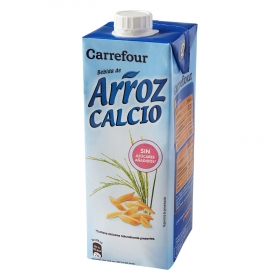 Bebida de arroz Carrefour con calcio brik 1 l.