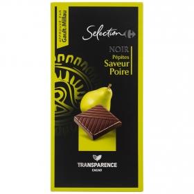 Chocolate negro con pera Carrefour Selección 100 g.