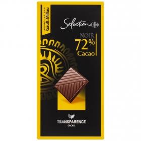 Chocolate negro 72% Carrefour Selección 80 g.