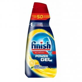 Gel para lavavajillas limón desengrasante Finish 50 lavados.