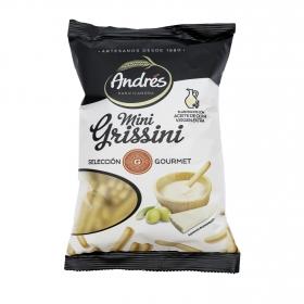 Grissinis con aceite de oliva virgen extra mini Andrés 170 g.