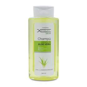 Champú al extracto de aloe vera para cabellos castigados Kamel 500 ml.