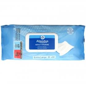 Toallitas higiénicas para adultos Absodys Carrefour 64 ud.