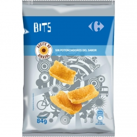 Cortezas Bits con aceite de girasol Carrefour 84 g.