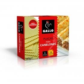 Placas para canelones Gallo 160 g.