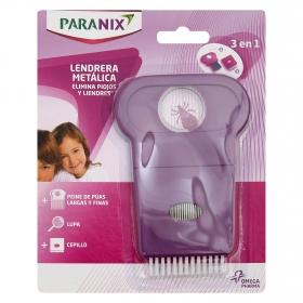 Lendrera metálica elimina piojos y liendres Paranix 1 ud.