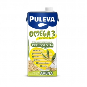 Bebida láctea desnatada Omega 3 Puleva con avena brik 1 l.
