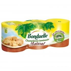Champiñon al natural Bonduelle pack de 3 unidades de 115 g.