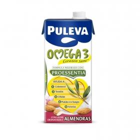 Bebida láctea desnatada Omega 3 Puleva con almendras brik 1 l.