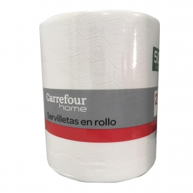 Servilleta dos Capas CARREFOUR 22x20 cm 500 ud - Blanco