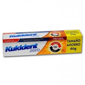 Crema adhesiva para dentaduras postizas Pro Doble Acción Kukident 60 g.
