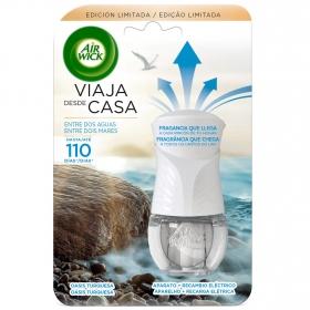 Ambientador oasis turquesa aparato y recambio Air Wick 19 ml.