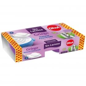 Yogur griego natural azucarado Dhul sin lactosa pack de 2 unidades de 125 g.