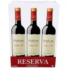Vino D.O. Utiel-Requena tinto reserva Faustino Rivero pack de 6 botellas de 75 cl.
