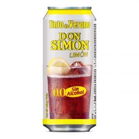 Tinto de verano limón sin alcohol Don Simón lata 33 cl.