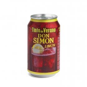 Tinto de verano limón Don Simón lata 33 cl.