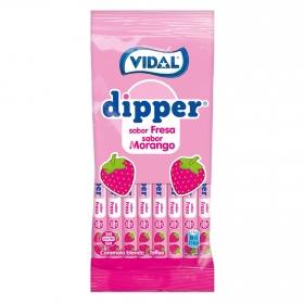 Caramelo blando toffe sabor fresa Dipper Vidal 90 g.