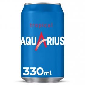 Bebida Isotónica Aquarius Vive bajo en calorías sabor tropical lata 33 cl.