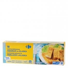 Varitas de merluza empanada Carrefour 450 g.