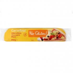 Masa de pizza Carrefour No gluten sin gluten 260 g.