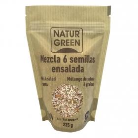 Mezcla de seis semillas para ensaladas ecológicas Naturgreen 225 g.