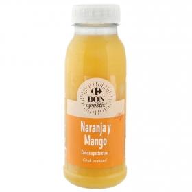 Zumo de naranja y mango Carrefour botella 25 cl